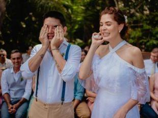 Noivo emociona ao colocar som do coração da filha para tocar em casamento