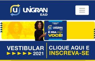 Unigran EAD  abre inscrições para vestibular em Alcinópolis