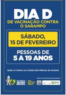 Paraíso das Águas: Sábado dia 15 de fevereiro será o dia D da primeira etapa de vacinação contra o sarampo