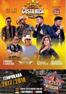 Com apoio cultural do Governo Municipal, Costa Rica Rodeio Show será realizado de 10 a 13 de outubro, no Centro de Eventos Ramez Tebet