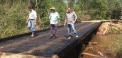 Prefeitura reforma mais uma ponte na região rural de Alcinópolis